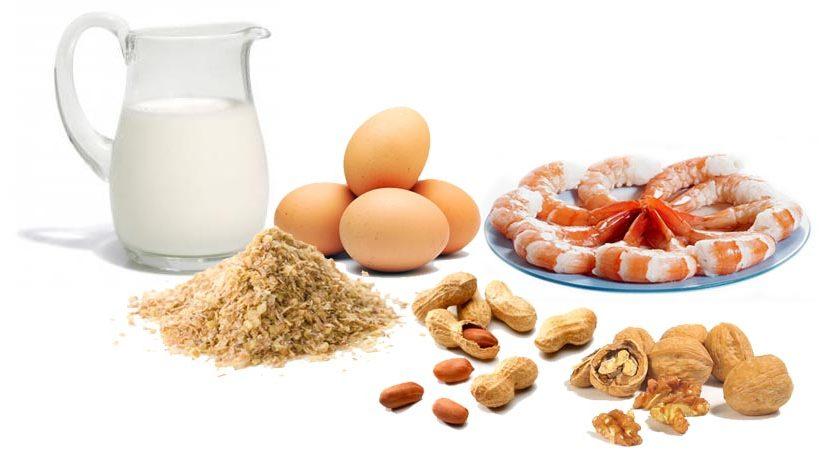 5 tipos de alergia alimentar mais comuns
