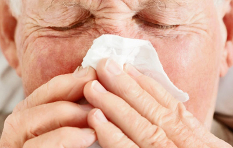 Quais são os principais tipos de alergia na terceira idade?